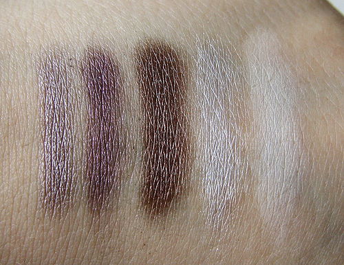 purple inglot swatch