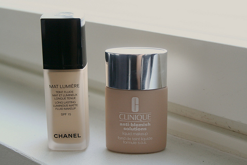 Chanel Mat Lumiére & Clinique Anti-blemish Solutions