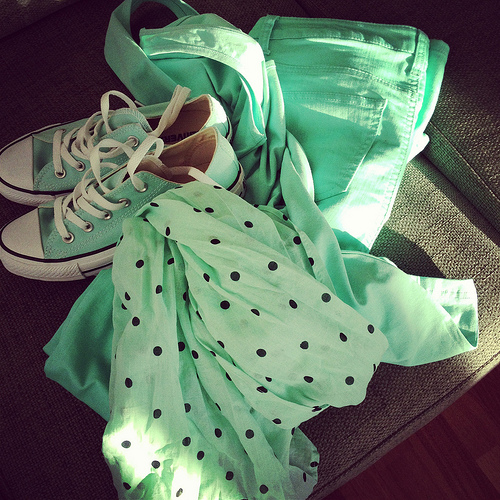 mint green spring